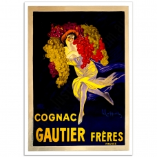 Vintage French Promotional Poster - Cognac Gautier Freres
