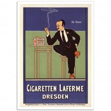 Vintage German Promotional Poster - Cigaretten Laferme Dresden