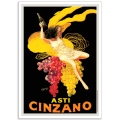 Vintage Italian Promotional Poster - Asti Cinzano