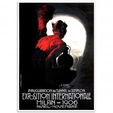 Vintage Italian Promotional Poster - Exposition Internationale,1906