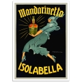 Vintage Italian Promotional Poster - Mandarinetto, Isolabella