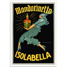 Vintage Italian Promotional Poster - Mandarinetto, Isolabella