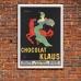 Vintage Italian Promotional Poster - Chocolat Klaus