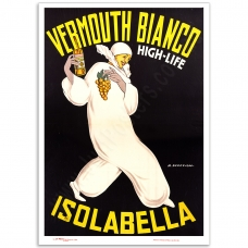 Vintage Italian Promotional Poster - Isolabella Vermouth Bianco, High-Life