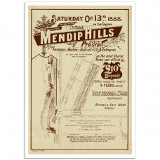 Mendip Hills North Preston - Vintage Australian Poster