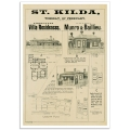 St. Kilda Auction Notice - Vintage Australian Real Estate Poster